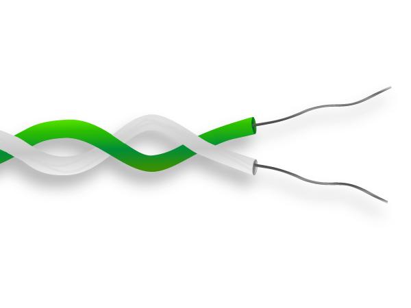 PFA Twin torsadée paire Thermocouple câble / câble IEC