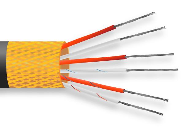 PVC isolé le câble de capteur PRT / broche