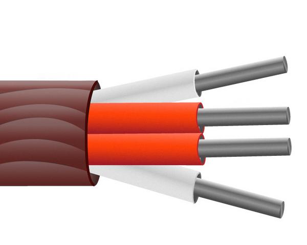 Caoutchouc de silicone isolé le câble de capteur PRT / broche