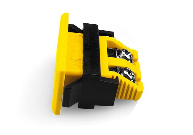 Miniature rectangulaire Fascia prise ANSI