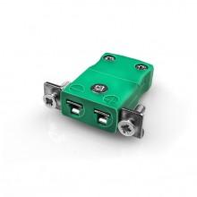 Miniature Panel Mount Thermocouple connecteur avec acier inoxydable support IM-K-SSPF Type K CEI