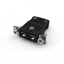 Miniature Panel Mount Thermocouple connecteur avec inox support IM-J-SSPF Type IEC J