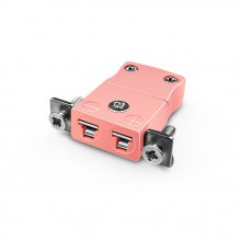 Miniature Panel Mount Thermocouple connecteur avec acier inoxydable support IM-N-SSPF Type IEC N