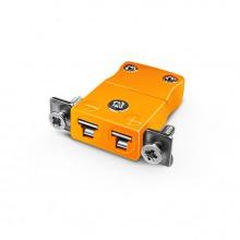 Connecteur du Mont Thermocouple panneau miniature avec acier inoxydable support Type IM-R/S-SSPF R/S CEI