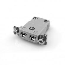 Miniature Panel Mount Thermocouple connecteur avec inox support IM-B-SSPF IEC Type B