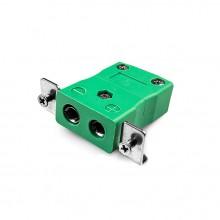Connecteur Thermocouple montage panneau standard avec acier inoxydable support est-K-SSPF Type K CEI