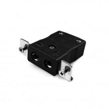 Connecteur Thermocouple montage panneau standard avec inox support est-J-SSPF Type IEC J