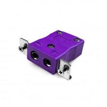 Connecteur Thermocouple montage panneau standard avec inox support est-E-SSPF Type IEC E