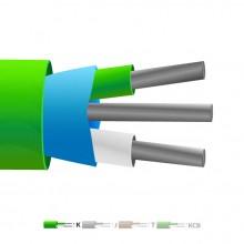 Isolé en PVC de type K Mylar Thermocouple câble blindé / fil (IEC)