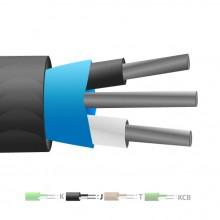 Isolé en PVC de type J Mylar Thermocouple câble blindé / fil (IEC)