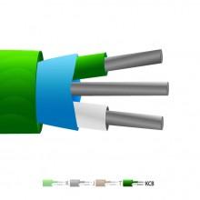 Type VX (KCB) PVC isolé Mylar Thermocouple câble blindé / fil (IEC)