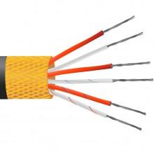 4 core PVC isolé, étain plaqué cuivre écran, capteur PRT câble / fil