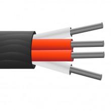 4 core PTFE isolé, écran de cuivre plaqué argent, PRT capteur câble / fil