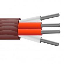 Caoutchouc de Silicone 4 core isolés, arrondi Section, câble du capteur PRT / broche