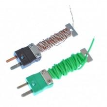 Câble / fil de Thermocouple bien rangé avec fiche d'IEC Miniature équipée (PFA Twin tordue ou plate une paire)