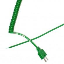 Plomb de rétractable bouclés Thermocouple type K (IEC)