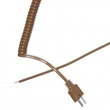 Plomb de rétractable bouclés Thermocouple type T (IEC)