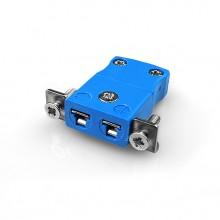 Miniature Panel Mount Thermocouple connecteur avec acier inoxydable support JM-K-SSPF Type JIS K