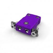 Miniature Panel Mount Thermocouple connecteur avec acier inoxydable support JM-E-SSPF Type JIS E