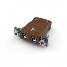 Miniature Panel Mount Thermocouple connecteur avec acier inoxydable support JM-T-SSPF Type JIS T