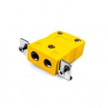 Connecteur Thermocouple montage panneau standard avec acier inoxydable support JS-J-SSPF Type J JIS