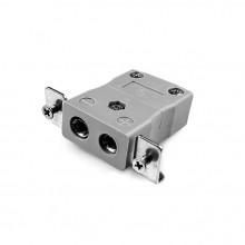Connecteur Thermocouple montage panneau standard avec acier inoxydable support JS-B-SSPF JIS Type B
