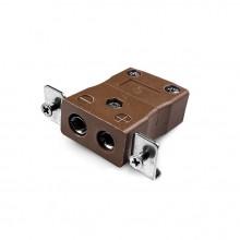 Connecteur Thermocouple montage panneau standard avec acier inoxydable support JS-T-SSPF Type JIS T